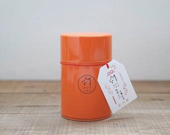 Orange Wolf Tea Canister / Tea Tin / Caddy  - Milky Oolong Black Tea