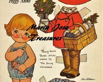 Dolly Dingle cousin Peggy Anne ready for Christmas Paper Dolls - Digital Download