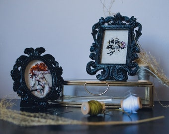 Skull and witch embroidery