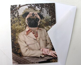 Pugtastic - Note Card