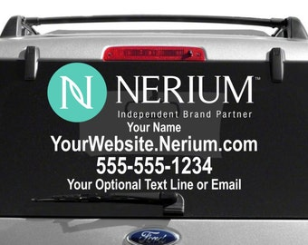 SALE- Nerium Custom Vehicle Decal - Dual Color