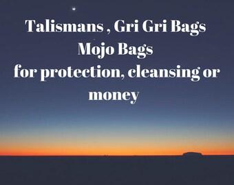 mojo bags, talisman, protection bag, gri gri bags