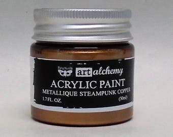 Art Alchemy-Acrylic Paint-Metallique Steampunk Copper 1.7oz  (50ml)