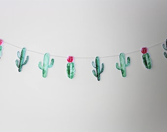 Cactus Garland. Cactus Theme. Fiesta Party. Fiesta Theme. Cacti. New Baby. Baby Shower. Wedding. First Birthday. Birthday Party. Party Decor