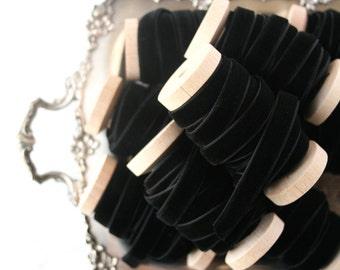 """Black Velvet Ribbon, 3 yards, Black Ribbon, 3/8"""" Velvet Ribbon, Choker Ribbon, Velvet Ribbon"""