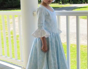 Custom Girls Colonial Dress sizes 3-8