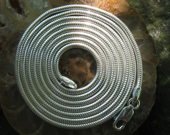 "Long Chain - 30"" Silver Chain - Snake Chain - Sterling Silver Chain - 2mm Chain - 30 inch Chain - Long Silver Chain - Wire Wrap"