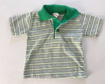 Vintage striped Buster Brown polo striped toddler baby tshirt