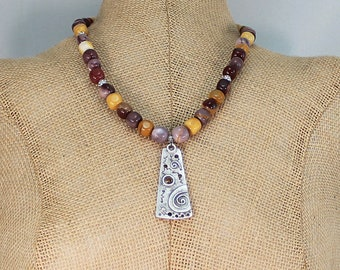Mookaite necklace, mookaite jasper necklace, gemstone necklace, mothers day gift.