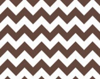Medium Chevron in Brown, Riley Blake Designs, 1 yard cut