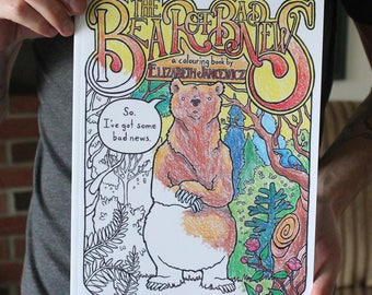 The Bear of Bad News; Humorous Adult Colouring Book