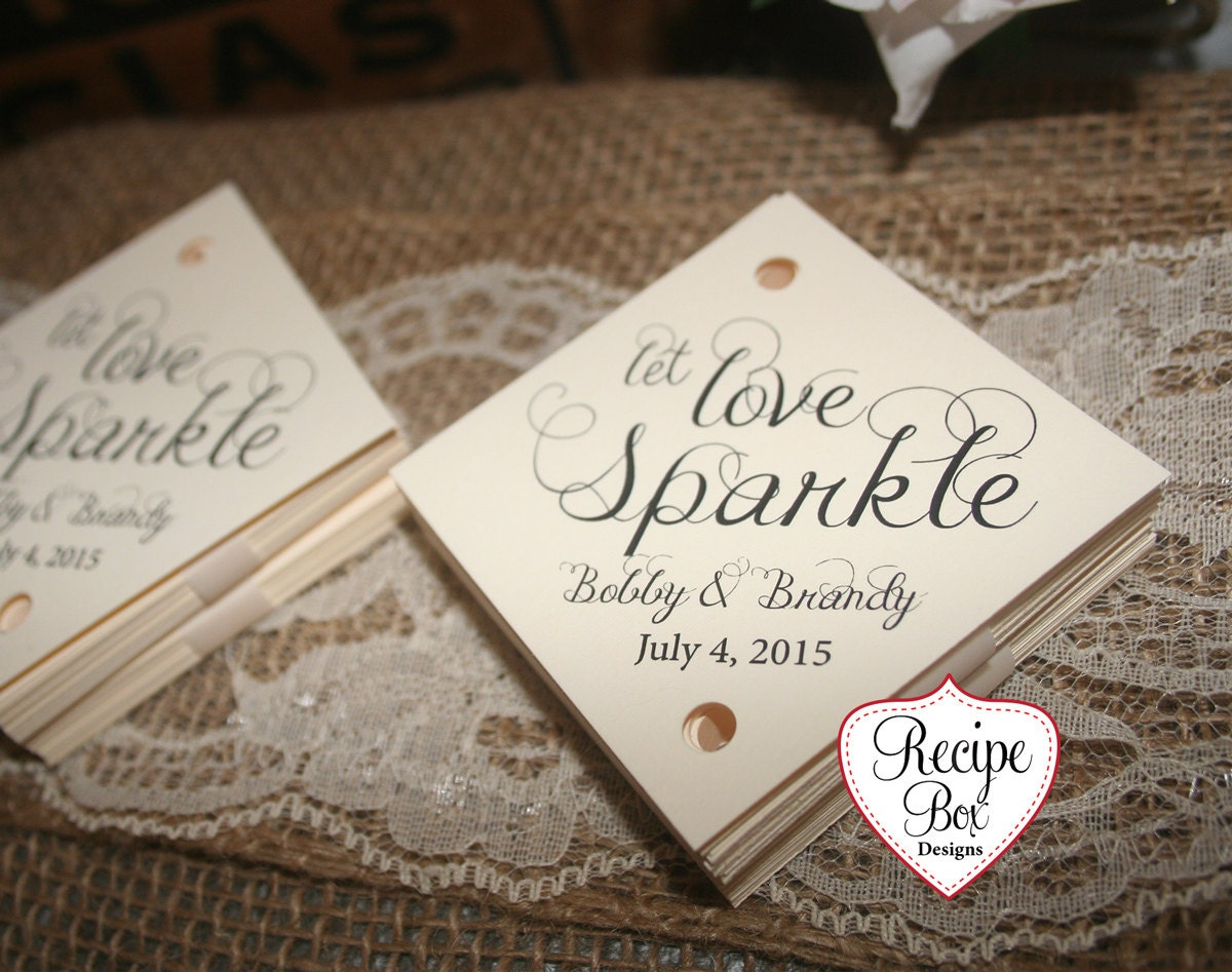 Let Love Sparkle, Sparkler Send Off Tags, Sparkler Tags, Wedding ...