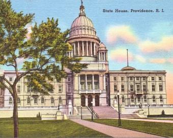 Providence, Rhode Island, State House - Vintage Postcard - Postcard - Unused (KK)