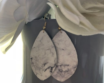 Marble Oval Dangles