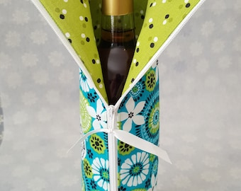 "Hostess Wine Bottle Gift Bag with 13"" zipper (750 ml bottle)  Capri Breeze Wine Bag"