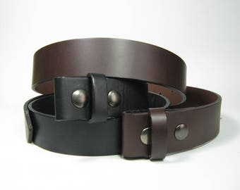 Leather Snap Belts - Canadian Made