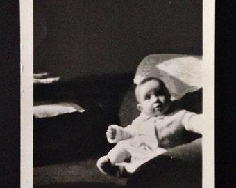 Original Vintage  Photograph | Baby Catches Window Light