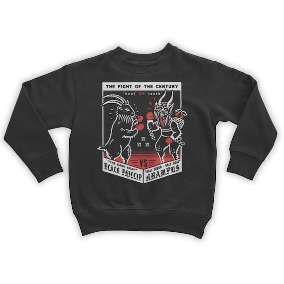 Krampus VS Black Phillip Holiday Sweatshirt ulJ1Rh