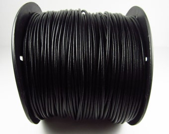 25 Yard Spool - 2mm Black Leather Cord