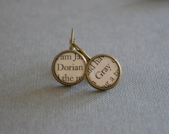 The Picture of Dorian Gray Earrings, Oscar Wilde Book