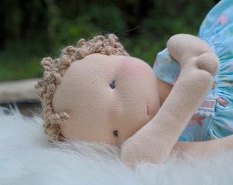"""Petit Noel 14"""" bébé poupée inspiration Waldorf"""