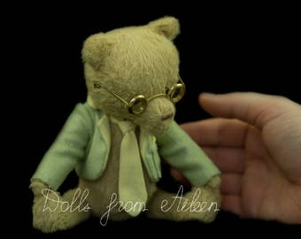 "OOAK Artist Teddy Bear ""Bertie"" by Dolls from Aileen"