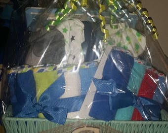 Baby Boy Baby Shower Basket