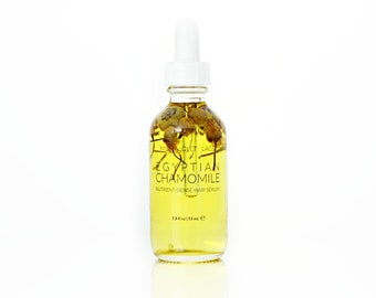 Hair Serum, vegan hair oil, 100% natural conditioner for dry and damaged hair, lavender, lemon and chamomile