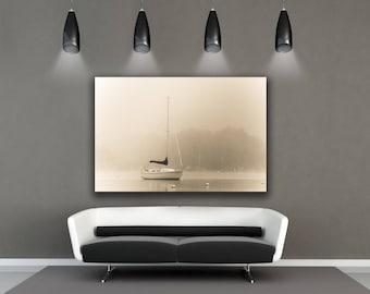 Sailboat Art, Sailboat Decor, Nautical Art, Sailing, Neenah, Bathroom Decor, Large Wall Art Print, Fox Cities, Home Decor