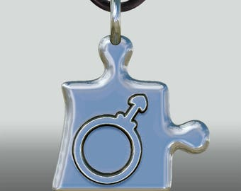 """Anhänger Puzzle """"He"""" - Lingam, Phallus, Erotik, Männlichkeit, Mann, Göttlichkeit, Paarschmuck, Vereinigung, Shiva"""