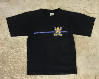 Vintage 1990s POKEMON Limited Edition Aerodactly T-Shirt Size Youth Large L Black Collector Series