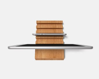 Wooden Multiple Charging Station for iPad, iPhone, Kindle, - Up to 5 Devices