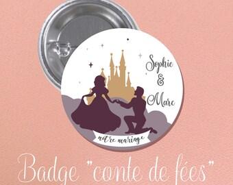 "Wedding guest gift theme BADGE ""fairytale"""