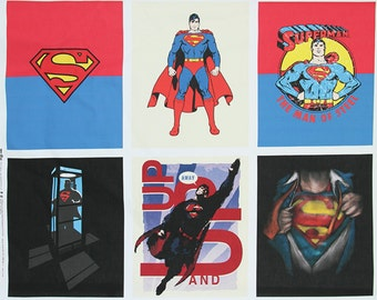 Superman Oxford Fabric made in Korea, Man of Steel, DC Comics Fabric By the Panel