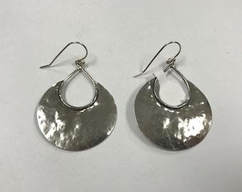d421 Vintage Original Sterling Silver 925 Israel Dangle Women's Earrings