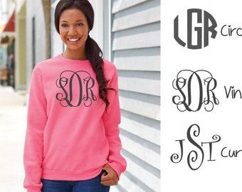 Monogrammed Sweatshirt/Personalized Sweatshirt/Pull Over Sweatshirt