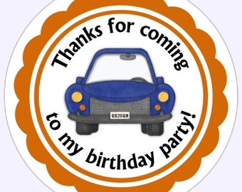 Boy Birthday Labels, Car Stickers - Personalized for YOU