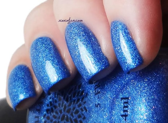 Royal Blue Scattered Holo Micro Glitter Nail Polish By Black