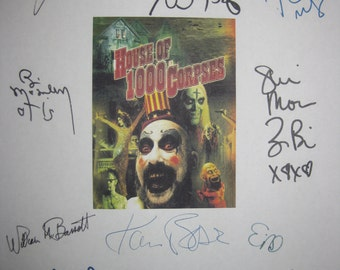 House of 1000 Corpses Signed Film Movie Screenplay Script X11 Autograph Rob Zombie Sid Haig Bill Moseley Walton Goggins Chris Hardwick Black