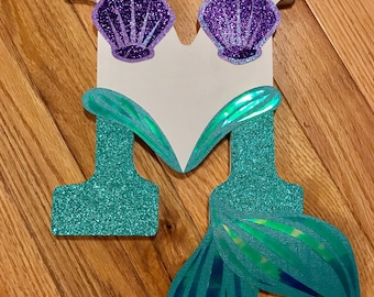 Mermaid Theme Wall Letters