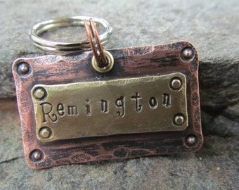 Handstamped Dog tag - Dog ID Tag - Dog collar tag - Personalized Pet/Dog tag - Pet accessories - Engraved Pet tag - Pet Tag - Custom pet tag