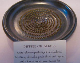 Garlic grater, Garlic scraper. Dipping Bowl, Parmesan grater, bread dipping plate
