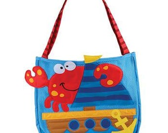 Stephen Joseph Beach Tote Personalized. Comes with sand toys! Mermaid, Dolphin, Octopus, Crab, Pirate, Butterfly, Clown fish, Jellyfish