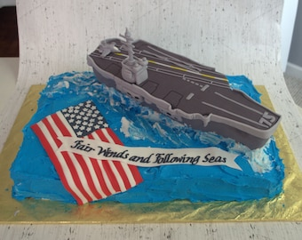 Air Craft Carrier Cake Topper