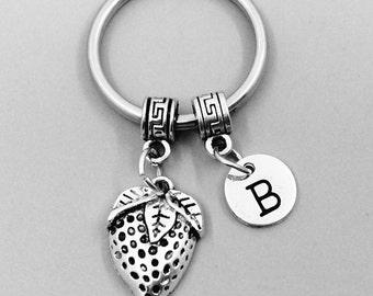 Strawberry Keychain, Strawberry Keychains, Best Friend Keychains, Strawberry Keyring, Strawberry Key Rings, Custom Charm Keychain, berries