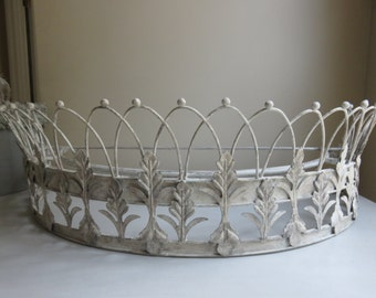Shabby French Bed Crown - Ornate, Hand painted, Jeanne d'Arc Living, French Nordic, Vintage style