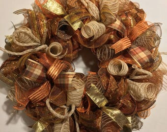 Fall wreath, wreath, fall wreaths, wreaths, burlap fall wreath, fall burlap wreath, thanksgiving wreath, Thanksgiving wreaths, harvest wreat