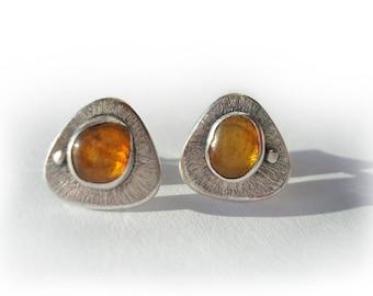 Natural Baltic Amber Silver Earrings,100% Handmade Earrings, Silver Jewelry.Nicely Packaged Earrings. Baltic Amber Earrings. Small Earrings.
