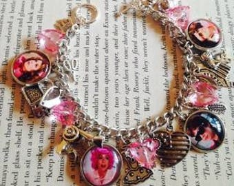 Grease The Movie Pink Ladies Charm Bracelet