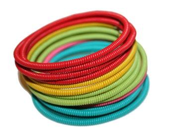 Vintage Rainbow Bracelet - vintage red yellow green blue pink bracelet rainbow pride 90s metal colorful unique vintage